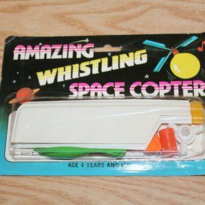 NEW VINTAGE 1985 AMAZING WHISTLING SPACE COPTER